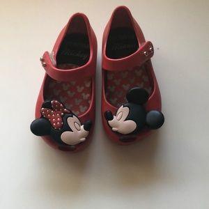 Mickey and Minnie mini Melissa size 6 t